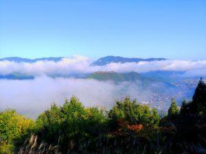 雲が晴れてきた竹田城跡