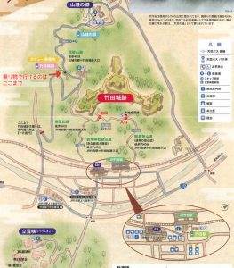 竹田城跡アクセスマップ