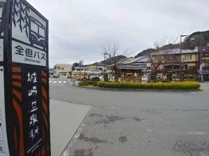 JR城崎駅の全但バス乗り場