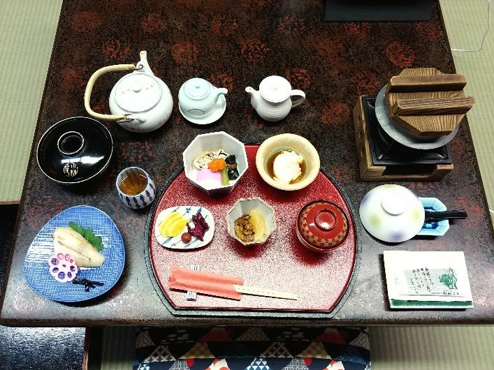城崎温泉の旅館「小林屋」朝食